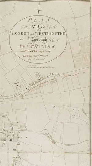 128  London.- Horwood (Richard) Plan of the Cities of London and Westminster the Borough of Southwark and Parts Adjoining showing every house, [Howgego 200 (1)], 1792-1799