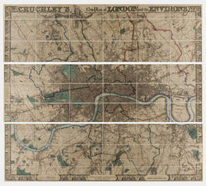 123  London.- Cruchley (George Frederick) Cruchley's New Plan of London and its Environs Extending Six Miles Round St. Paul's, 1836.