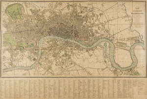139  London.- Wyld (James) Plan of London and Westminster with the Borough of Southwark, 1828.