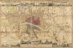 132  London.- Langley (Edward) and Belch (William) Langley & Belch's New Map of London, 1816.