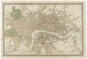 126  London.- Gardner (James) New Plan of the Cities of London & Westminster with the Borough of Southwark, 1827.