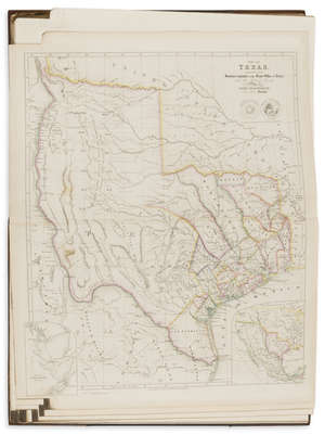 7  America.- Arrowsmith (John) The London Atlas of Universal Geography, with the rare 1843 map of Texas, 1842.