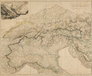 6  Alps.- Arrowsmith (Aaron) Map of the Alpine Country in the South of Europe, 1804.
