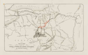 13  America.- Railroads.- Sketch Map Showing the Utica, Ithaca & Elmira Railroad, & Connections, 1876; and 8 others maps.
