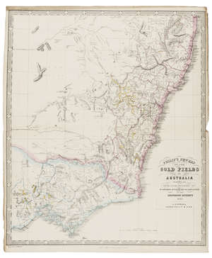 16  Australia.- Gold Mining.- Philip (George, & Son) Philip's New Map of the Gold Fields of Australia, Comprising All the recent Discoveries of Mr. Hargraves, Mr. Hunter, Revd. W. Clark & Others in the Auriferous Districts, 1852; and another, (2).