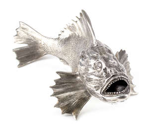 13  An Italian silver coloured model of a fish