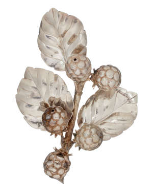 1  An Italian silver coloured model of a berry plant by Federico Buccellati