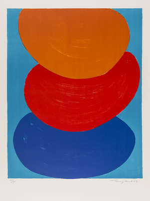 10  Terry Frost (1915-2003) Ochre, Red and Blue (Kemp 50)