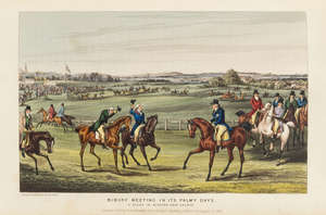 9  Apperley (Charles James) The Life of a Sportsman, first edition, first issue with 4 mounted plates, contemporary red morocco, gilt, 8vo, 1842.