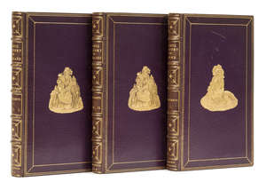 1  A'Beckett (Gilbert Abbott) The Comic History of England, 2 vol., 1847-48; The Comic History of Rome, [1851], together 3 vol., hand-coloured plates by Leech, later pictorial purple morocco, gilt, 8vo (3)