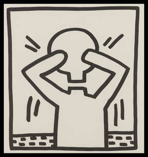 12  Keith Haring (1958-1990) (after) Untitled