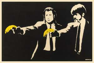 9  Banksy (b.1974) (after) Pulp Fiction