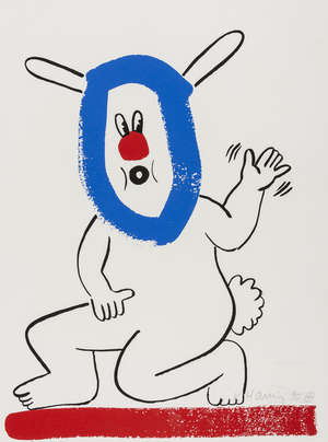 11  Keith Haring (1958-1990) The Story of Red and Blue (Littmann p.133)