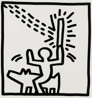 17  Keith Haring (1958-1990) (after) Untitled
