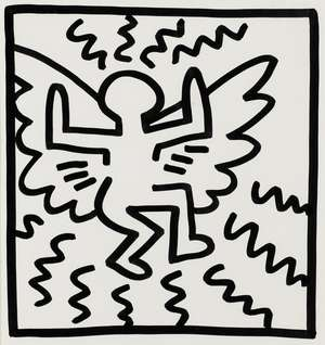 18  Keith Haring (1958-1990) (after) Untitled (Angel)
