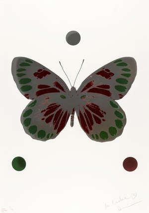 3  Damien Hirst (b.1965) Science Xmas Butterfly (Emerald Green and Chilli Red)