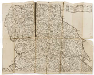 264  The Quartermaster's Map.- Jenner (Thomas) The Kingdome of England & Principality of Wales...Usefull for all Comanders for Quarteringe of Souldiers, first edition, 6 engraved maps by W. Hollar, Sold by Thomas Jenner at the South entrance of ye Exchange, 1644.