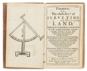 271  Surveying.- [Leybourn (William)] Planometria: or the Whole Art of Surveying of Land: Shewing the Composition, and Use of All the Most Necessary Instruments thereunto Belonging, 1650.