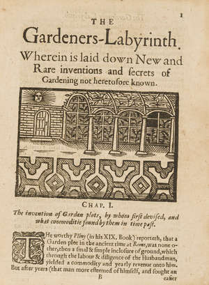 277  Hill (Thomas) The Gardeners Labyrinth, or, A New Art of Gardning, Printed by Jane Bell, 1652.