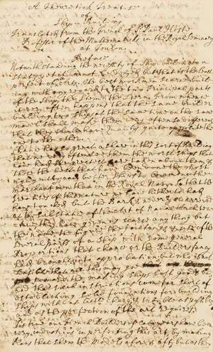 6  Ship building.- Fairfax (Brian, the younger, antiquary and scholar, Commissioner of Customs, 1676-1749) A Theoretick Treatise of Ship-Building Translated from the French of P: Paul Host Professor of the Mathematicks..., manuscript, 1733.