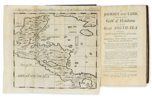 83  Americas.- Central America.- Cockburn (John) Journey over Land, from the Gulf of Honduras to the Great South-Sea, first edition, folding engraved map, contemporary calf, C.Rivington, 1735.