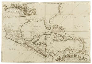 84  Americas.- Central America.- Gage (Thomas) A New Survey of the West-Indies..., third edition, folding engraved map, by A.Clark...to be sold by John Martyn, Robert Horn and Walter Kettilby, 1677.