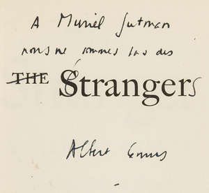 0  Camus (Albert) The Stranger, first American edition, signed presentation inscription from the author, New York, 1946.