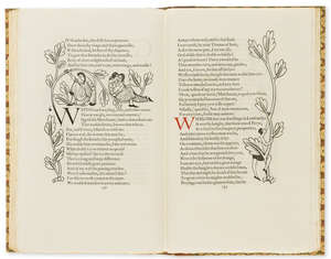 103  Golden Cockerel Press.- Chaucer (Geoffrey) The Canterbury Tales, 4 vol., wood-engravings by Eric Gill, Waltham St.Lawrence, Golden Cockerel Press, 1929.