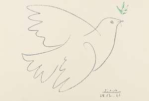 124  Pablo Picasso (1881-1973) (after) Dove of Peace (CZW 207)