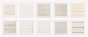 25  Agnes Martin (1912-2004) Paintings and Drawings 1974-1990 (suite of 10)