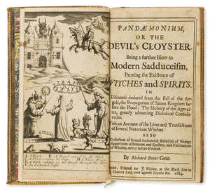 0  Witchcraft.- Bovet (Richard) Pandaemonium, or the Devil's Cloyster, first edition, Printed for J. Walthoe, 1684.