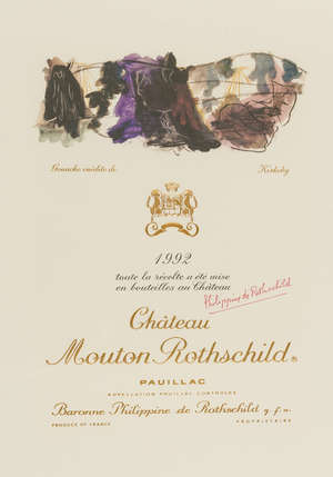 6  Per Kirkeby (1938-2018)  Chateau Mouton Rothschild Pauillac wine label