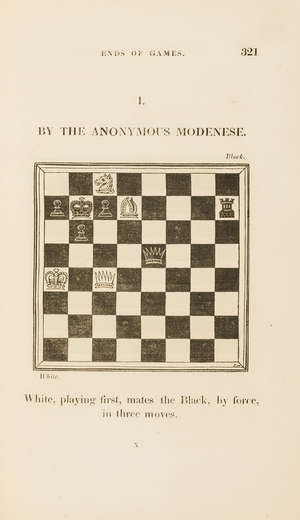 144  Chess.- Ponziani (Domenico) The Incomparable Game of Chess, translated from the Italian of Dr. Ercole Dal Rio, 1820.