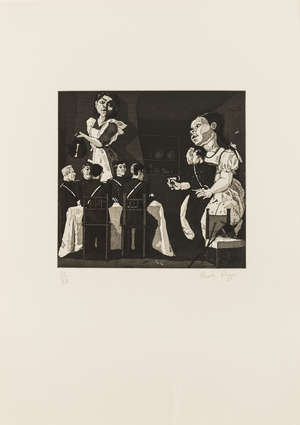 51  Dame Paula Rego (b.1935) Polly Put the Kettle paper On (Rosenthal 53)