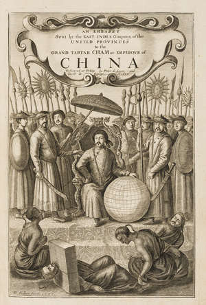 87  China.- Nieuhoff (Jan) An Embassy from the East-India Company of the United Provinces, to the Grand Tartar Cham Emperor of China, second edition, engraved map, plan & 16 plates, by the Author, 1673.