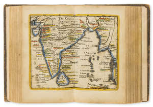 92  World.- Morden (Robert) [Geography Rectified: or, A Description of the World], maps only, 79 engraved maps hand-coloured in outline, 1688.