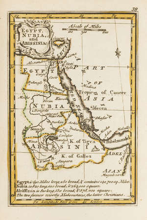 91  World.- Gibson (John) Atlas Minimus, or a New Set of Pocket Maps, 52 engraved maps hand-coloured in outline, by J. Newbery, 1758.