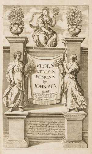 76  Gardening.- Rea (John) Flora: seu, De Florum Cultura. Or, a Complete Florilege..., second edition, engraved title and 8 plates, by T[homas] N[ewcomb] for George Marriott, 1676.