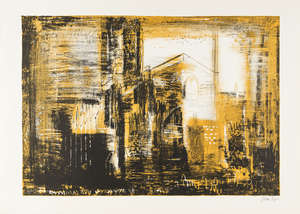 41  John Piper (1903-1992) Fotheringhay, Northamptonshire; medieval stone (Levinson 135)