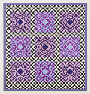 137A  Victor Vasarely (1906-1997) Untitled (Mauve Pink Blue)