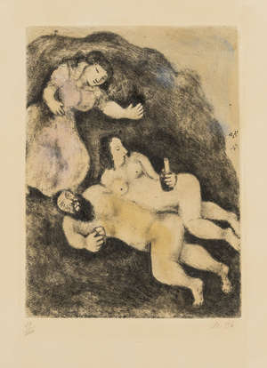 88  Marc Chagall (1887-1985) The Bible: Lot and his Daughters (See Cramer 30)